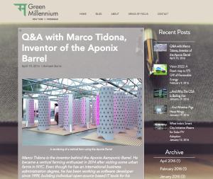 Green Millenium Blog - Avinash Burra, NYC