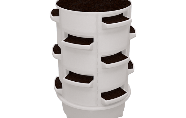 Bundle raised bed alternative, soil based vertical barrel