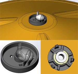 Single net pot piece for ring segments.