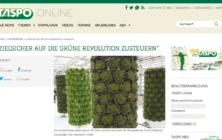 Interview in German on TASPO online – Zielsicher auf die Grüne Revolution zusteuern