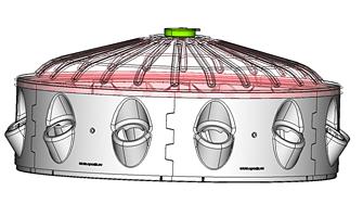 Sprinkler Dome Lid for robust Precision Irrigation