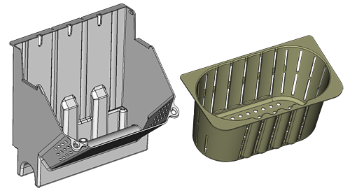 Main parts of the aponix Wall System - Module and Pot Insert